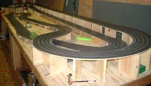 ho slot car racing routed wooden track the bridge