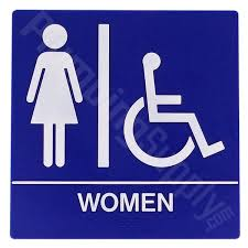 Handicap Bathroom Signs Best Restaurant Office Commercial Restroom Signs