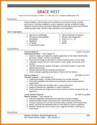 11 Software Engineer Resume Summary Write Memorandum