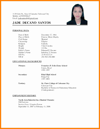 Sample Simple Resume Easy Templates Ideas Hospi Noiseworks Co ...