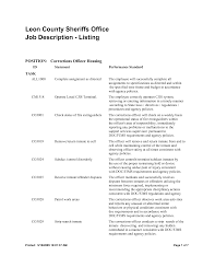 Correctional Officer Job Description Resume Correctional Officer Resume Sales Officer Lewesmr 25