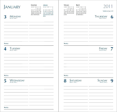 Leather Pocket Planners Custom Day Planner Calendars Please