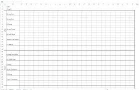 Weight Lifting Templates Training Sheet Template