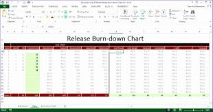 Microsoft Excel Burndown Chart Template Simple Burndown Chart Excel Template Exceldl