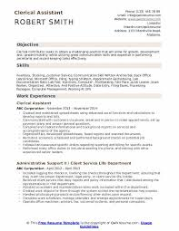 Resume For Clerical Position Clerical Assistant Resume Samples Qwikresume