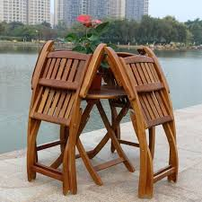 alive folding outdoor table z8731827 amazing furniture wood patio set garden regarding wooden chairs v40