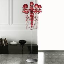 modern red crystal chandelier floor lamp juliettes interiors crystal chandelier floor lamp