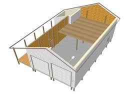 free horse barn plans pole interior ideas with material list garage loft 24x30 design farm