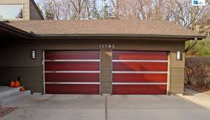 sliding garage doorsDecorations  Luxury Brown Wooden Side Sliding Garage Doors With