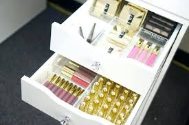 acrylic makeup drawer organizers fits units holders for vanity with drawers walmart collections