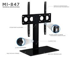 mount it universal tabletop tv stand mount and av media glass shelf tv