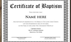 Sample Baptism Certificate Template Stunning Baptism Certificate Wording Baptism Certificate 48 Free Samples