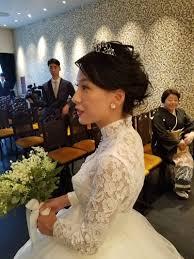 結婚式ヘアスタイルショートヘアの花嫁アレンジ ブライダルヘアメイク