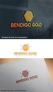Graphic Design Bendigo Modern Upmarket Logo Design For Pure Bendigo Gold 100