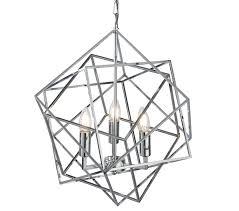 searchlight cube 3 light pendant ceiling light chrome finish geometric cube frame 7863 3cc