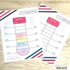 Debt Goal Chart Free Debt Thermometer Printable To Help You Track Your Debt