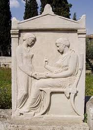 grave stele of hegeso showing image of a klismos ca 420 bce there are few survivals of ancient greek and roman furniture ancient greek furniture