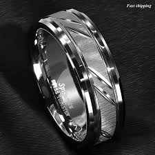Tungsten Carbide Ring Size Chart Details About 8 6mm Tungsten Carbide Ring Silver Leaf New Brushed Style Bridal Atop Jewelry
