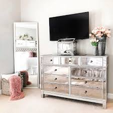 silver bedroom furniture mirrored