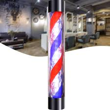 Us 39 42 26 Off 90 60x13cm Led Barber Shop Sign Pole Light Red White Blue Stripe Design Roating Salon Wall Hanging Light Lamp Beauty Salon Lamp In