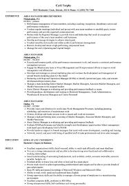 Sample Zoning Supervisor Resume Area Manager Resume Samples Velvet Jobs