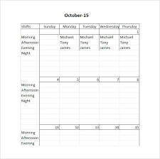 Roster Template New Industrial Cleaning Excel Roster Templates Duty Schedule Template