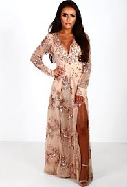 Limited Edition Everlasting Rose Gold Sequin Long Sleeve Maxi