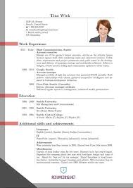 Resume Sample Format Pdf 100 Images 10 Curriculum Vitae Pdf