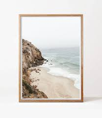 california wall art ocean beach print