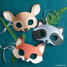 These are black and white versions for the kids to colour in. Printable Woodland Animal Masks Lia Griffith
