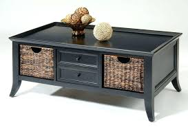 black coffee table with drawers theltco