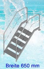 Nach bauverordnungen sollten treppen mit mehr als drei stufen mindestens einen handlauf haben. Schwimmbad Treppe Fur Bader Und Therapiebecken Bestens Geeignet