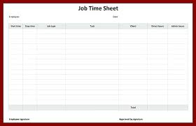 Daily Timesheet Template Excel Job Template Daily Activity Timesheet