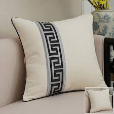 White couch pillows Blue Modern Grey Decorative Pillows Square Linen For Couch pillow Core Not Included Homerises White Throw Pillows Cream Throw Pillows