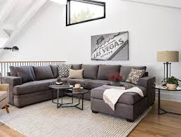 transitional living room with kerri 2 piece sectional w raf chaise