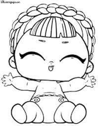 Check the coolest set of printable lol surprise coloring pages for girls presenting unboxed dolls. Lol Little Sister Coloring Pages Coloring And Drawing