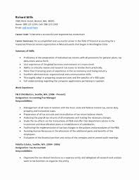 Entry Level Accounting Resume New Entry Level Accounting Resume ...