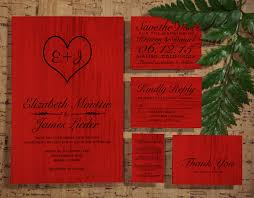 Red Save The Date Cards Printable Red Black Country Wedding Invitations Set Suite Invites Save The Date Rsvp Thank You Cards Info Response Cards Digital Pdf Printed