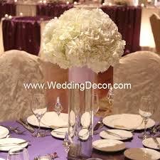 hanging crystals for wedding centerpieces. wedding centerpiece - hydrangea in a cylinder vase with hanging crystals and pink ribbon for centerpieces b