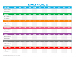 010 Family Finances Template Ideas Free Household Budget