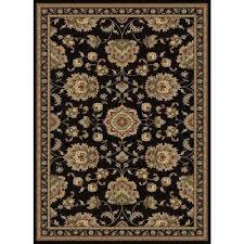 sensation black 7 ft x 10 ft traditional area rug