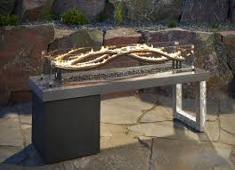 the wave linear gas fire pit table