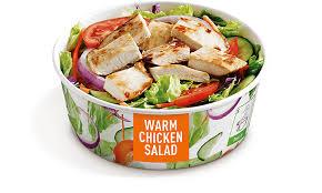 grilled warm en salad