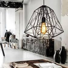 cage pendant lighting. Vintage Industrial Style Metal Cage Pendant Light Chandelier Lights Living Room Bar Loft Lamp Black White Lighting