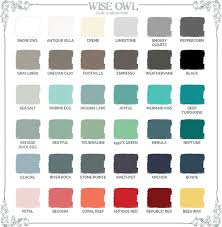 Turquoise Paint Color Chart Wise Owl Paints Color Selection Guide Wise Owl Chalk