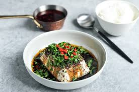 steamed tofu with soy chillies
