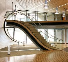 Interior:General Modern Staircase Design Inspiration With Glass Staircase  Divider Idea Interior Design with Modern