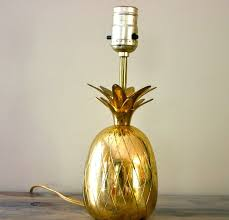lighting lamps pineapple lamp and vintage brass table