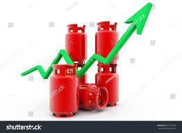 Economical Lpg Gas Price Chart3d Render Stock Illustration