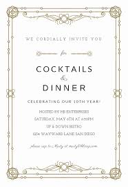 Invitation Wording For Dinner Dinner Party Invitation Templates Elegant Formal Dinner